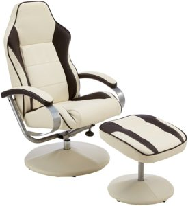 Amstyle Fernsehsessel Sporting TV Design Relax-Sessel verstellbar Racing Modern Bezug Kunstleder drehbar