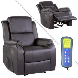 Fernsehsessel mit Massage, Heizung und Liegefunktion Kunstleder