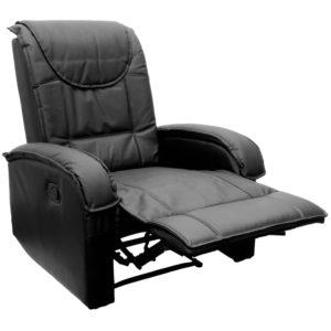 STILISTA TV Relaxsessel aus Echtleder, mit ausklappbarer Fußstütze, bequeme Polsterung