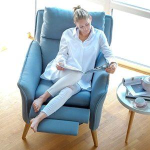 moderner Lounge-Relax-Sessel in Premiumqualität im skandinavischem Stil